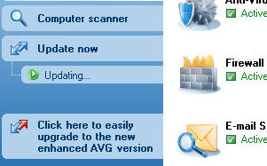AVG Upgrade Message